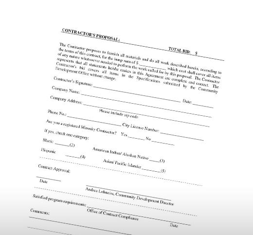 Bid Proposals | Construction Bid Proposals
